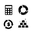financical investment simple related icons vector image vector image