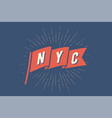 flag ny old school flag banner with text new york vector image vector image