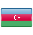 Flags Azerbaijan in the form of a magnet on vector image vector image