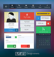 Flat web design elements 6