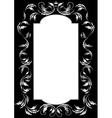 Frame of silver leaf vector image vector image