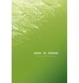 Green glowing leaves vertical template background vector image