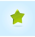 Green star symbol isolated on blue background vector image vector image