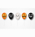 happy halloween halloween air balloons with scary vector image