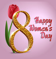 happy womens day march 8 greeting card text with vector image vector image