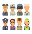 icon people - soldier officer pilot marine vector image vector image