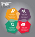 infographics step step universal abstract vector image vector image