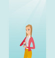 insurance agent protecting model of house vector image vector image
