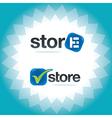 Internet Store Symbols vector image vector image