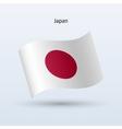 Japan flag waving form vector image