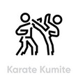 karate kumite sport icons vector image vector image