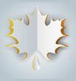 leaf icon on the grey background vector image