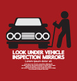 Lookunder Vehicle Inspection Mirrors vector image vector image