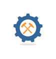 mechanical gear logo vector image vector image
