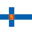national flag finland vector image vector image