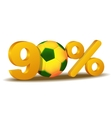 ninety percent discount icon vector image vector image