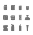 Pack Container Icons vector image