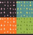 seamless abstract mid century modern pattern set vector image