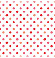 seamless pastel pattern with pink polka dots vector image vector image