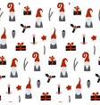 seamless pattern with nordic gnomes and christmas vector image vector image