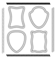 set brushes and rope frames vector image vector image