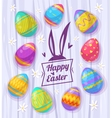 set easter eggs cute vector image