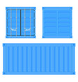shipping freight container blue intermodal vector image