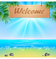Summerl seaside view poster vector image vector image