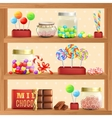 Sweet Store Shelf vector image vector image