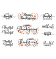 thanksgiving cards set vector image