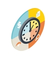 Time management icon isometric 3d style vector image vector image