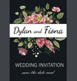wedding invitations menus greeting card vector image vector image