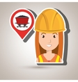 woman and mining isolated icon design vector image