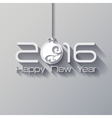 2016 Origami Happy New Year Ball greeting card or vector image vector image