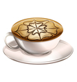 A cup of hot coffee vector image vector image
