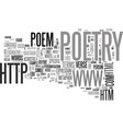a guide to poetry styles terms text word cloud vector image vector image