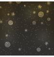 abstract dark night dots and stars bokeh vector image