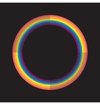 Abstract rainbow color circle with light and dark vector image vector image