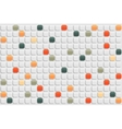 Abstract retro mosaic background vector image vector image