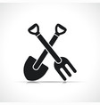 agriculture tools symbol icon vector image vector image