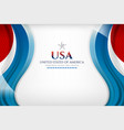 american background template vector image