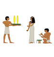 ancient egypt noblewoman and servant with vector image