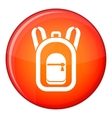 Backpack icon flat style vector image vector image