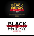 black friday sale black friday banner shopping vector image vector image
