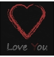 Blackboard with Love Heart vector image vector image