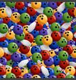 Bowling colorful seamless pattern seamless