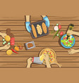 children craft and cooking lesson two vector image vector image