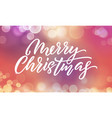 christmas background xmas lights blur flare and vector image vector image