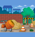construction site theme image 1 vector image vector image