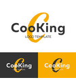 cooking logo letter c logo logo template vector image vector image